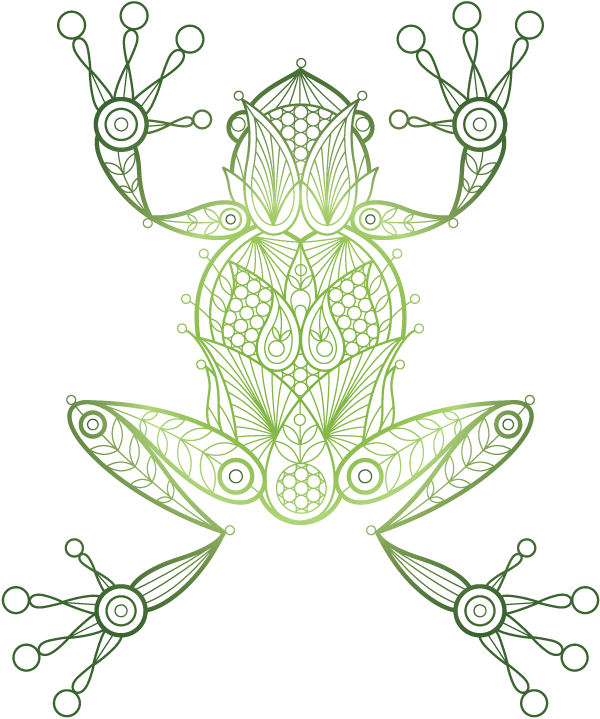 Green Kambo Frog Illustration