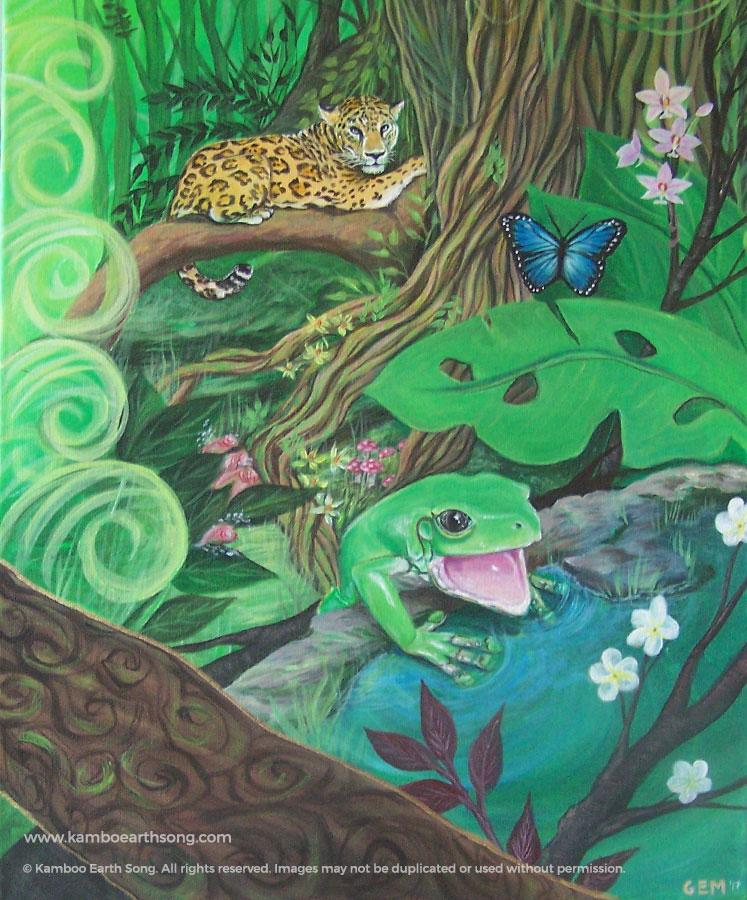 Amazon jungle painting